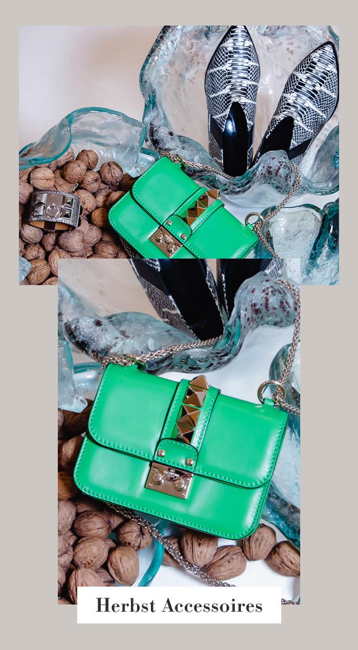 Herbst-Accessoires: Valentino Handtasche, grün