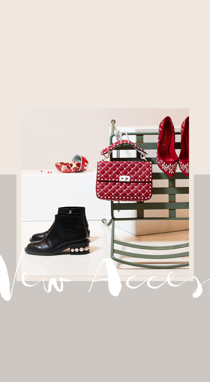 Herbst-Accessoires: Valentino Handtasche, dunkelrot