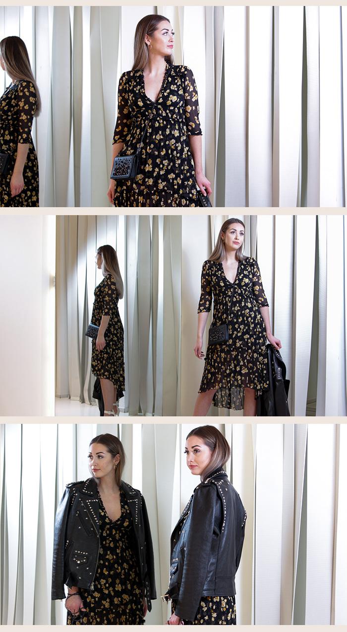 The Kooples Sommerkleid mit Blumenprint - Second Hand