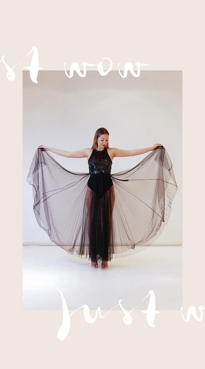 Elisabetta Franchi Schwarzes Abendkleid mit Tüllrock - Second Hand