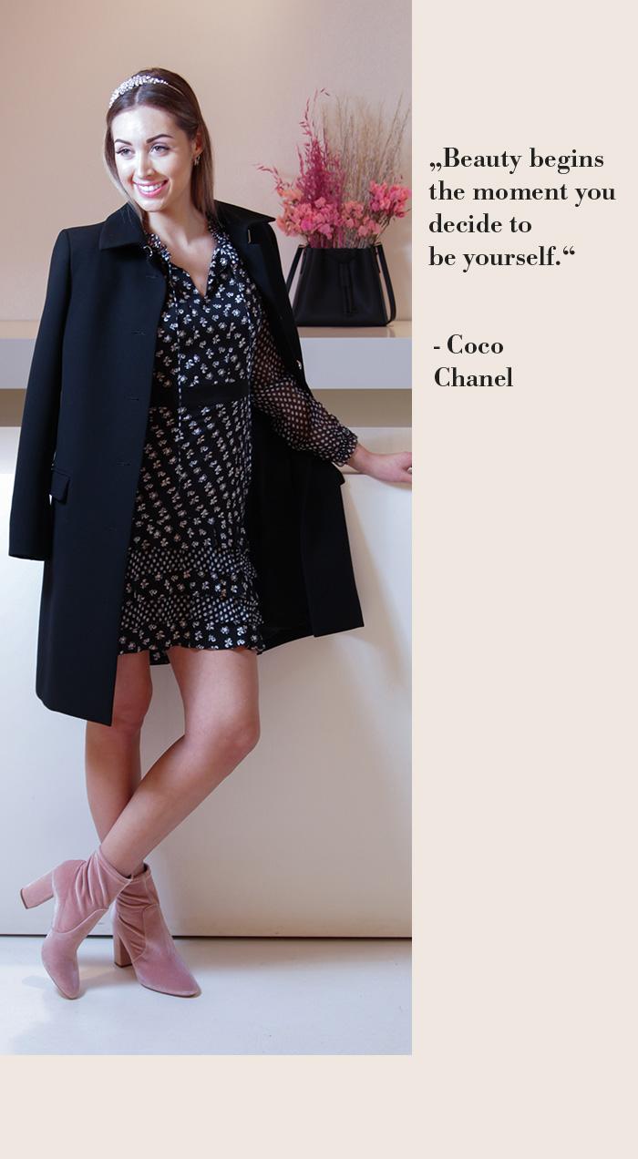 DVF Schwarzes Sommerkleid mit Blumenprint - SECONDELLA
