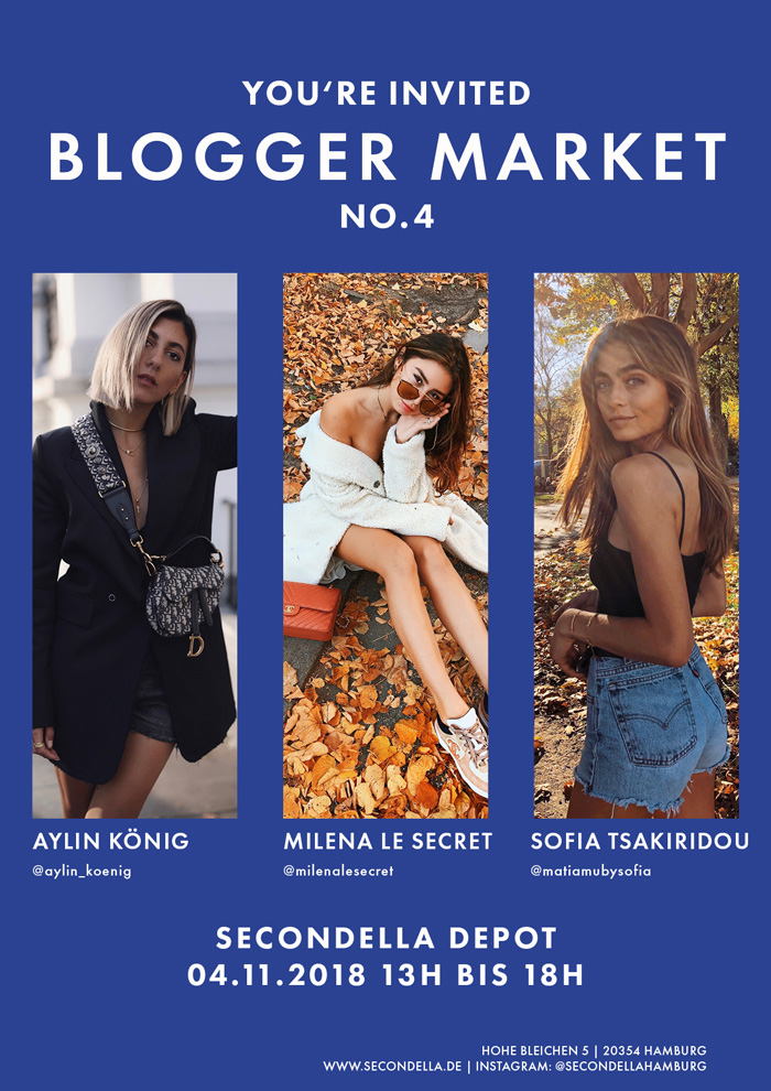 secondella blogger market no 4 mit aylin k nig milena le secret sofia tsakiridou. Black Bedroom Furniture Sets. Home Design Ideas