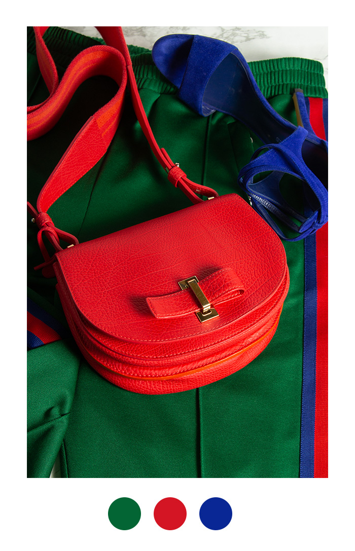 Color Blocking - Delvaux Mutin Mini rot, Second Hand
