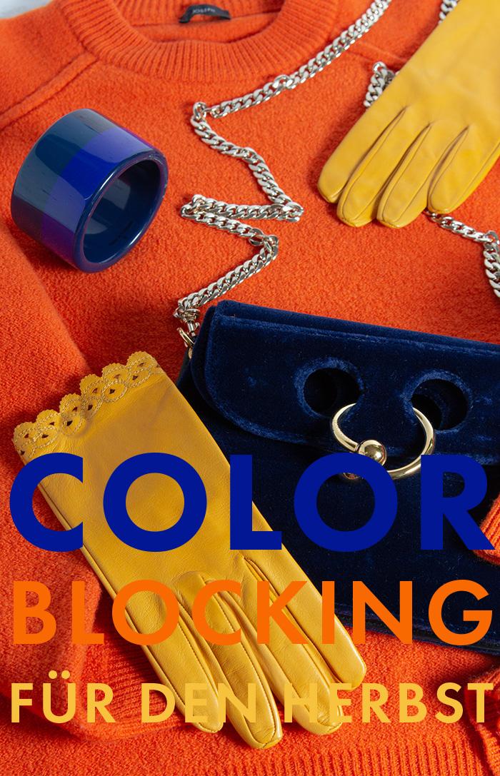 Color Blocking - Farbenfrohe Accessoires für den Herbst