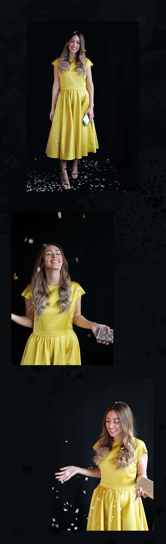Party-Looks für Silvester: Gelbes Kleid von Rochas