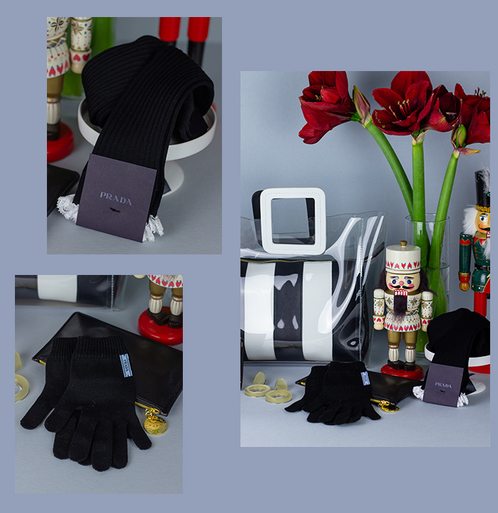 SECONDELLA's Geschenke-Guide - Prada Kniestrümpfe & Handschuhe