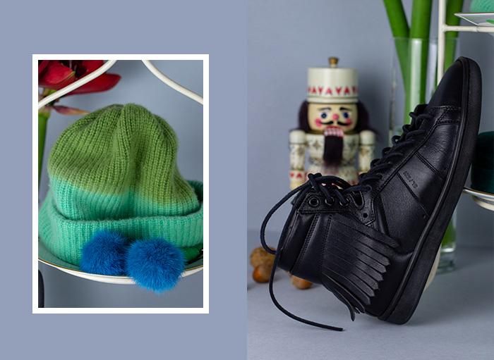 Saint Laurent Sneaker, schwarz, Fransen - gebraucht
