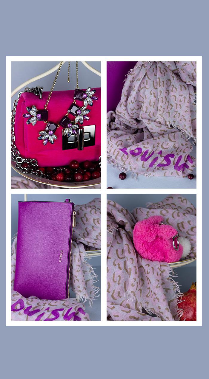 Louis Vuitton Schal, Tuch, rosa, gebraucht