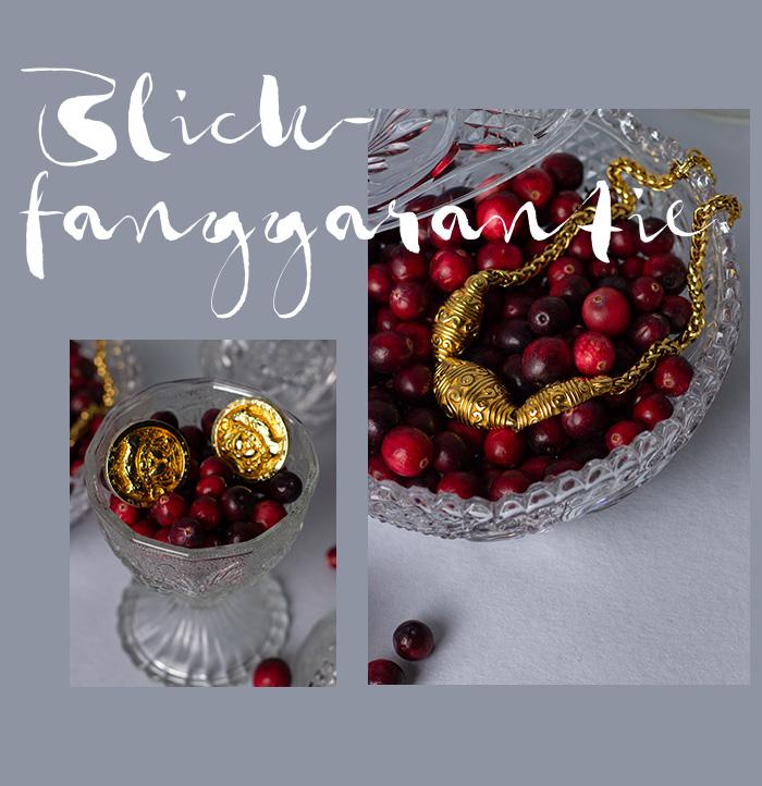 Vintage Ohrclips Rena Lange & Vintage Kette Lanvin