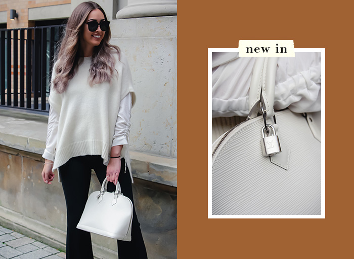 Unsere Favoriten für den Herbst: Louis Vuitton Alma, weiß, Epi-Leder