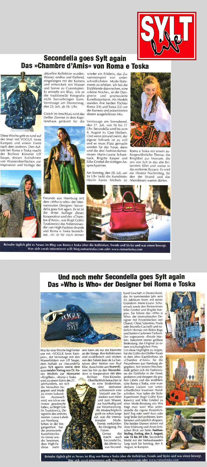 SECONDELLA Sylt Pop-Up-Store Presse 2019 Sylt Life