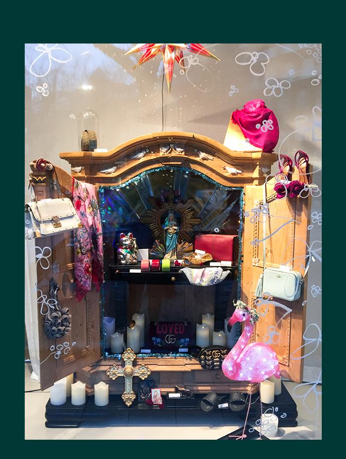 SECONDELLA X-Mas Schaufenster 2018 - Weihnachtsfenster