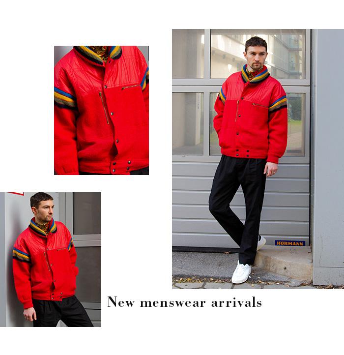 Iceberg Rote Vintage-Jacke für Männer
