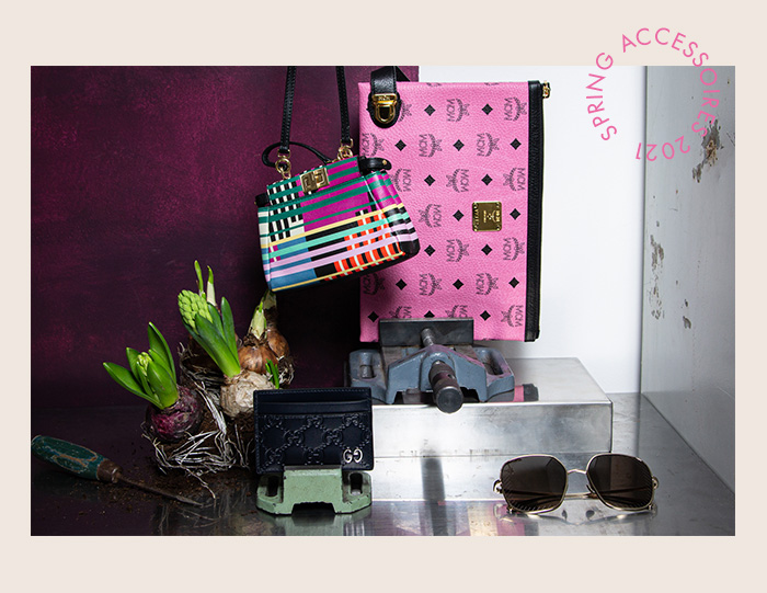 Farbenfrohe Accessoires: MCM Clutch pink - Second Hand