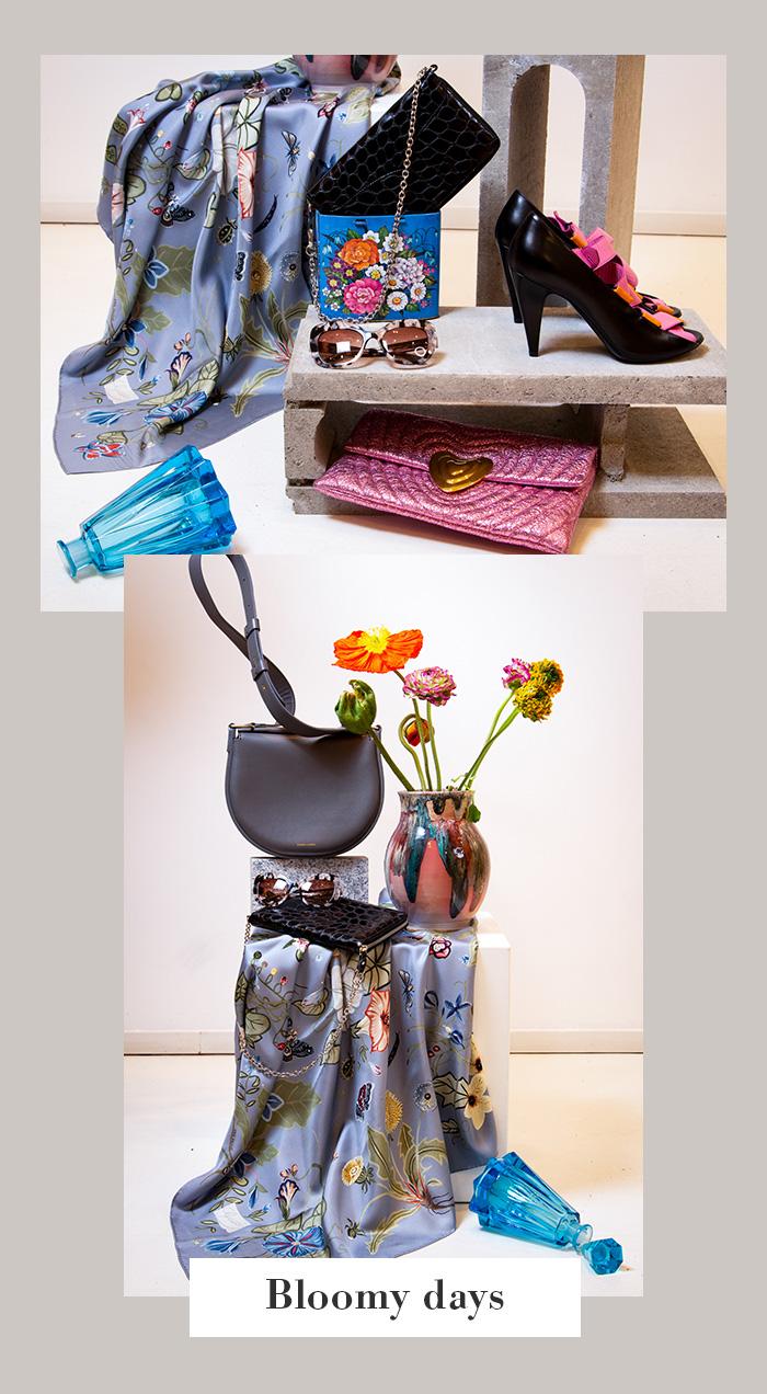 Frühlings-Accessoires: Escada, Balenciaga - Second Hand / Second Season