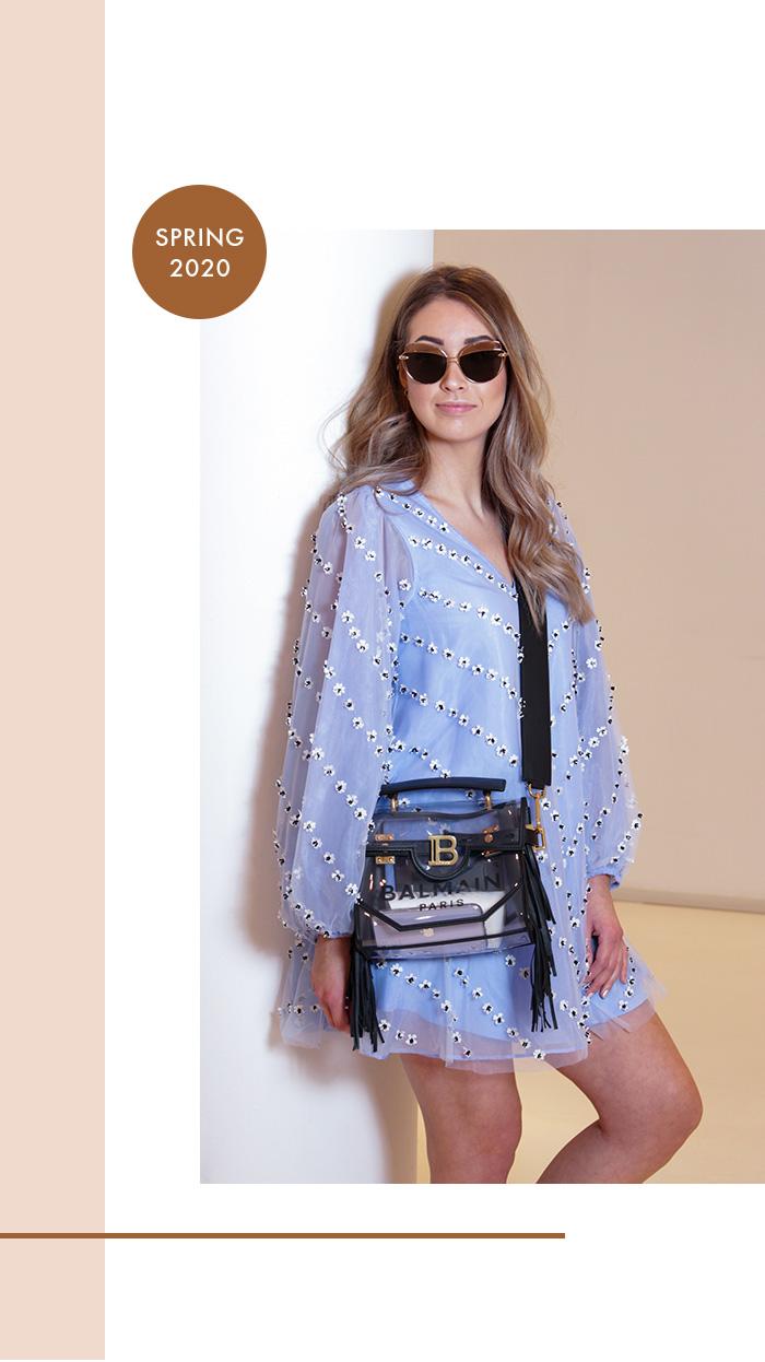 Spring Time - Second Hand: Hellblaues Chiffon-Kleid von Ganni