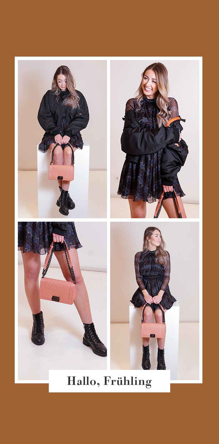 SECONDELLA: Chanel Boy Bag, rosa/lachs Second Hand