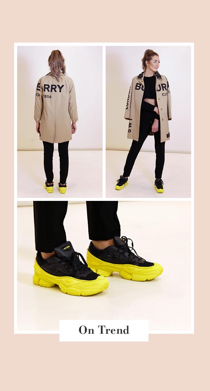 Frühjahr 2020: Second Hand Burberry Trenchcoat & Raf Simons x Adidas