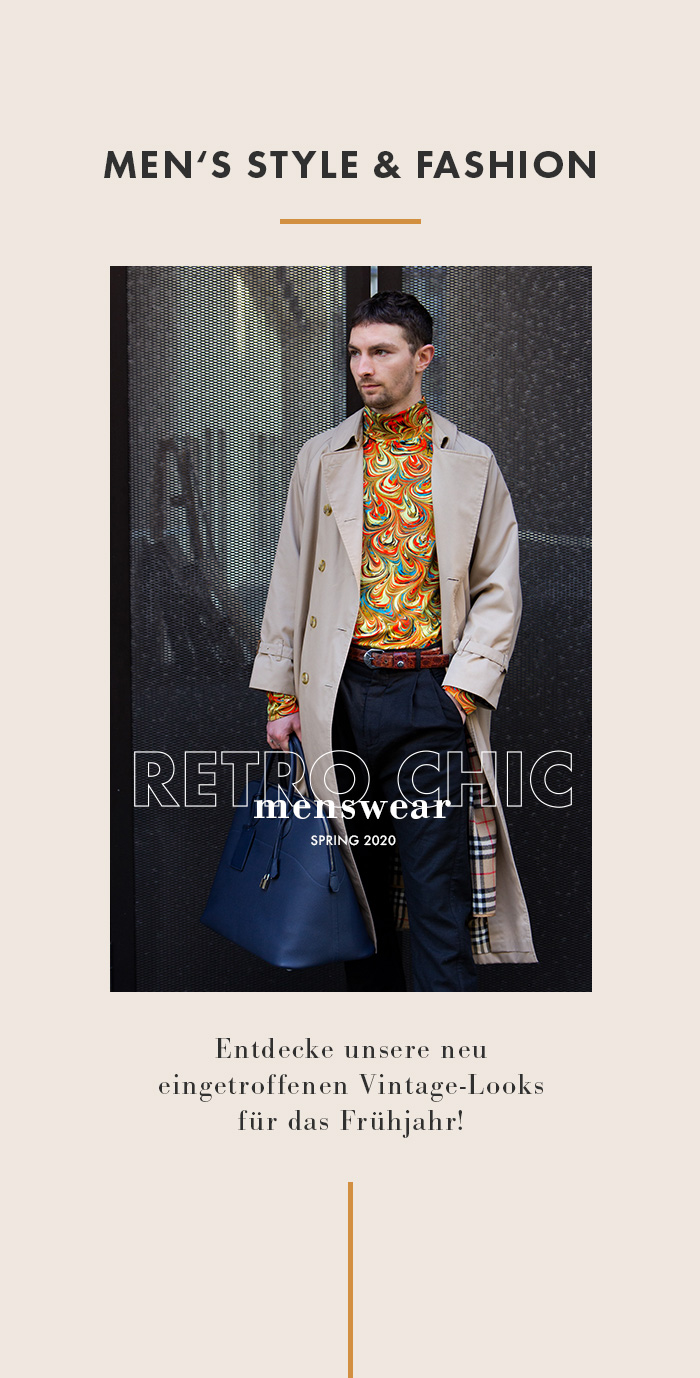 Retro Chic for Him - New Menswear Arrivals