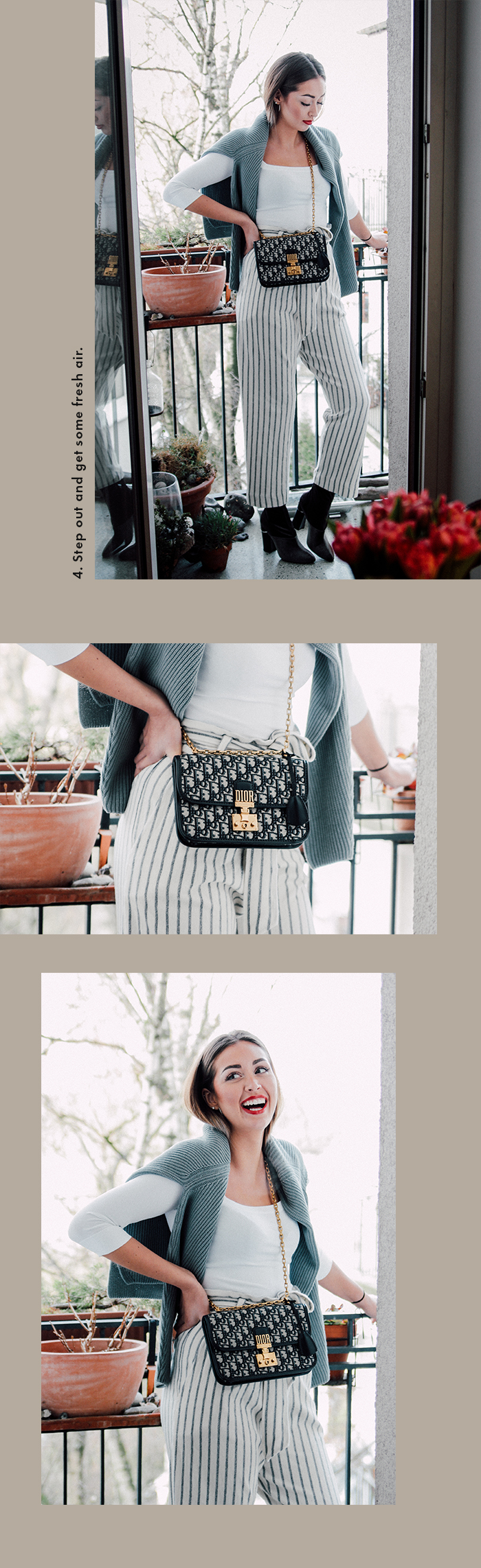 Winter days spent at home: Dior Bag