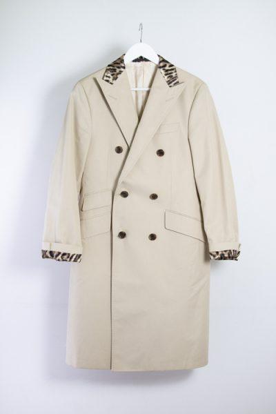 R13 Mantel mit Leopardenmuster-Details