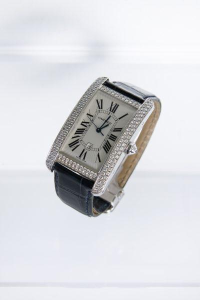 "Cartier ""Tank Americaine Large"" Uhr mit Automatikwerk"