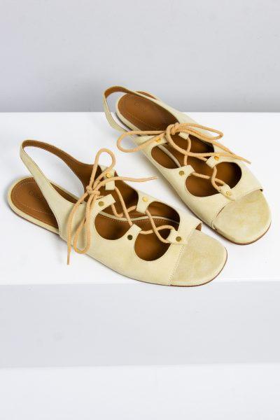 Chloé Veloursleder Sandalen zum schnüren