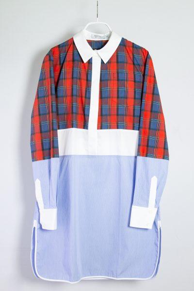 Altuzarra Hemdblusenkleid mit halber Knopfleiste