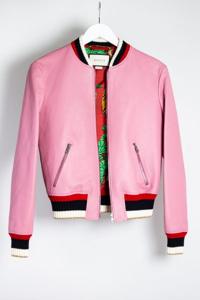 """Gucci """"Blind for Love"""" Bomber Jacke in rosa"""