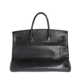 Hermès Birkin Bag, Togo Leder, schwarz
