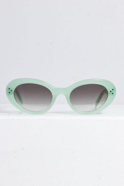 CELINE Cat Eye Sonnenbrille mit lindfarbigem Acetat Rahmen