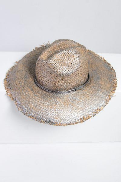 Brunello Cucinelli Strohhut mit Fransenkante und geflochtenem Hutband