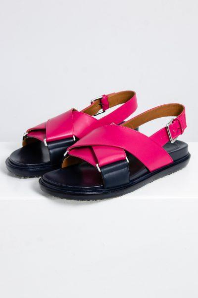 Marni Leder Sandalen mit Fußbett