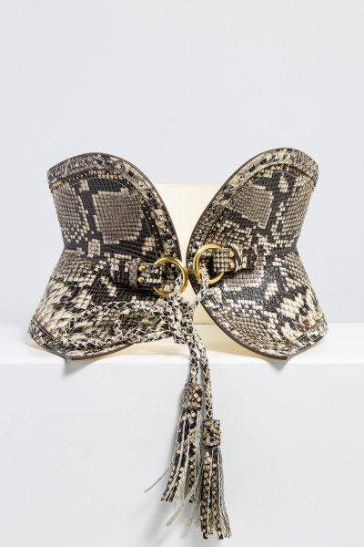 Zimmermann Taillengürtel mit Kordelverschluss in Reptil-Optik