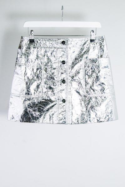 Christian Dior Minirock in Metallic-Look