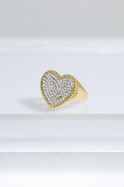 "Yvonne Leon ""Chevalier Coer Diamants"" Ring aus 750 er Gelbgold"